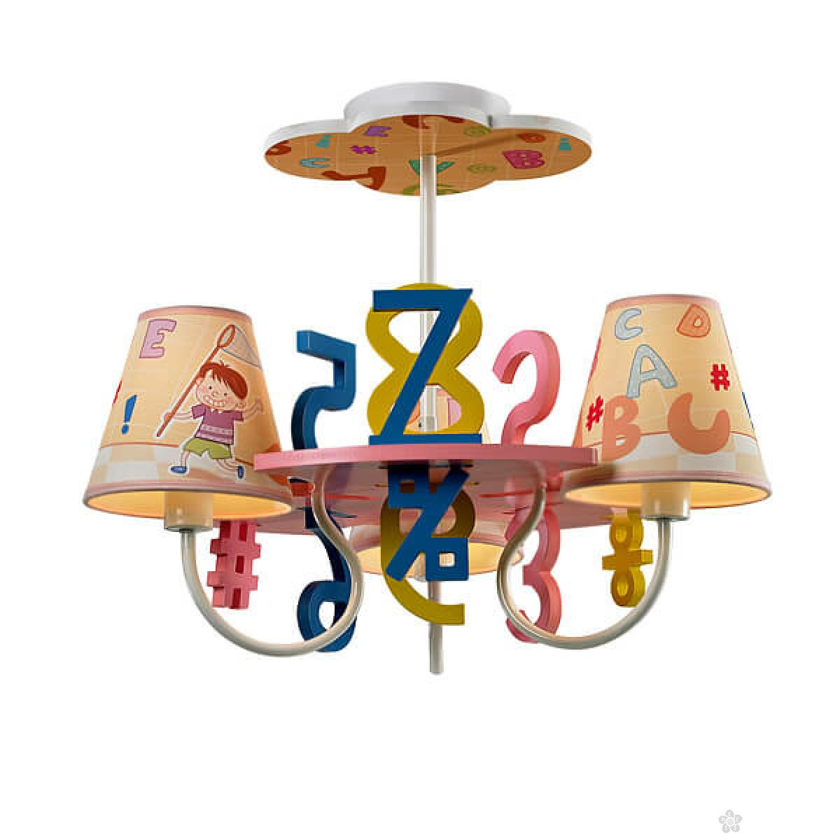 Plafonska svetiljka - brojevi i slova