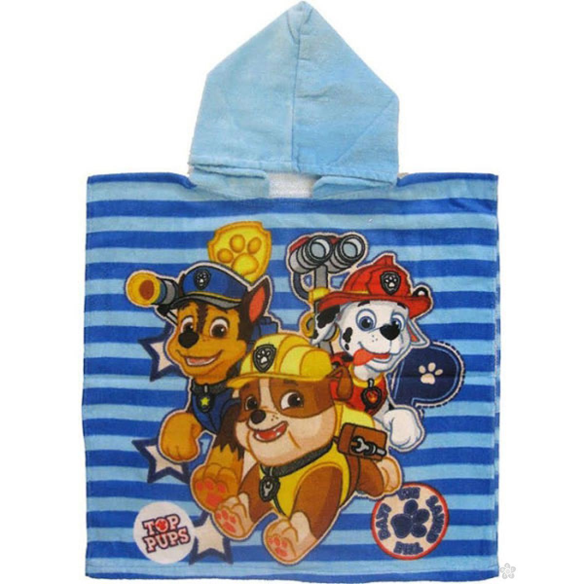 Peškir, pončo za plažu i kupanje - Paw Patrol PT09110-1