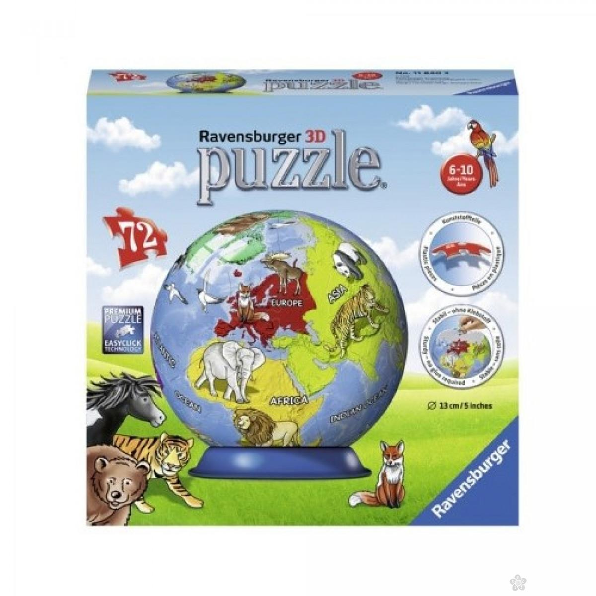 Ravensburger 3D puzzle (slagalice) - Mapa sveta, RA11840