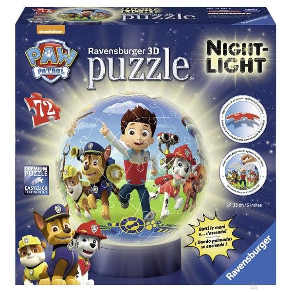 Ravensburger 3D puzzle (slagalice) - Paw Patrol noćna lampa RA12187