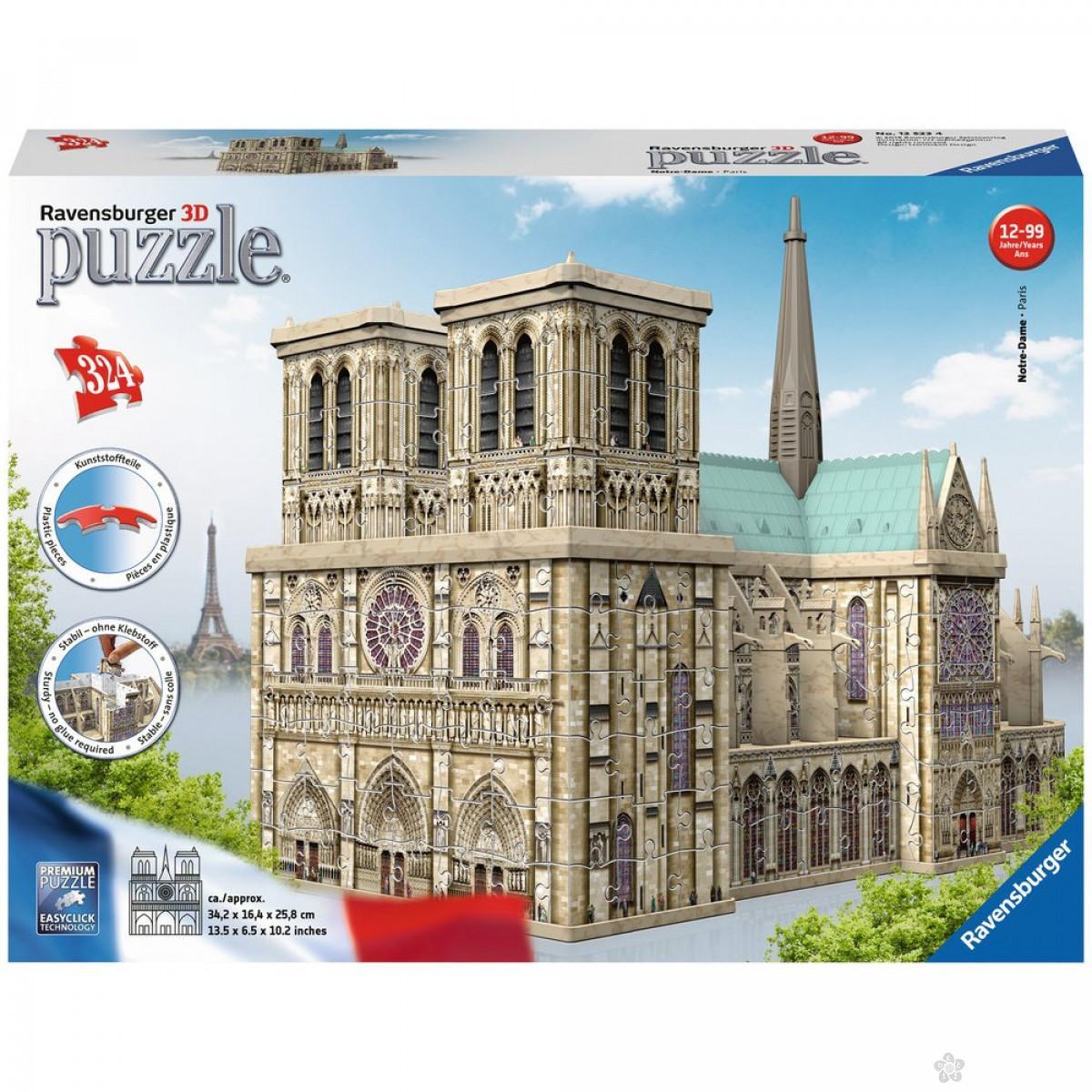Ravensburger 3D puzzle (slagalice) - Notre Dame, RA12523