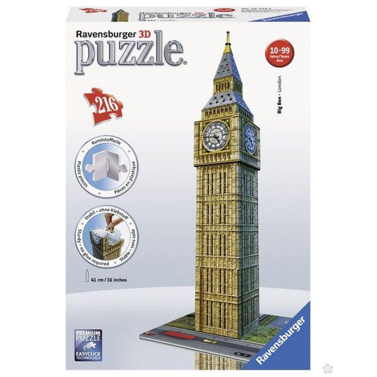 Ravensburger 3D puzzle (slagalice) - Big Ben RA12554