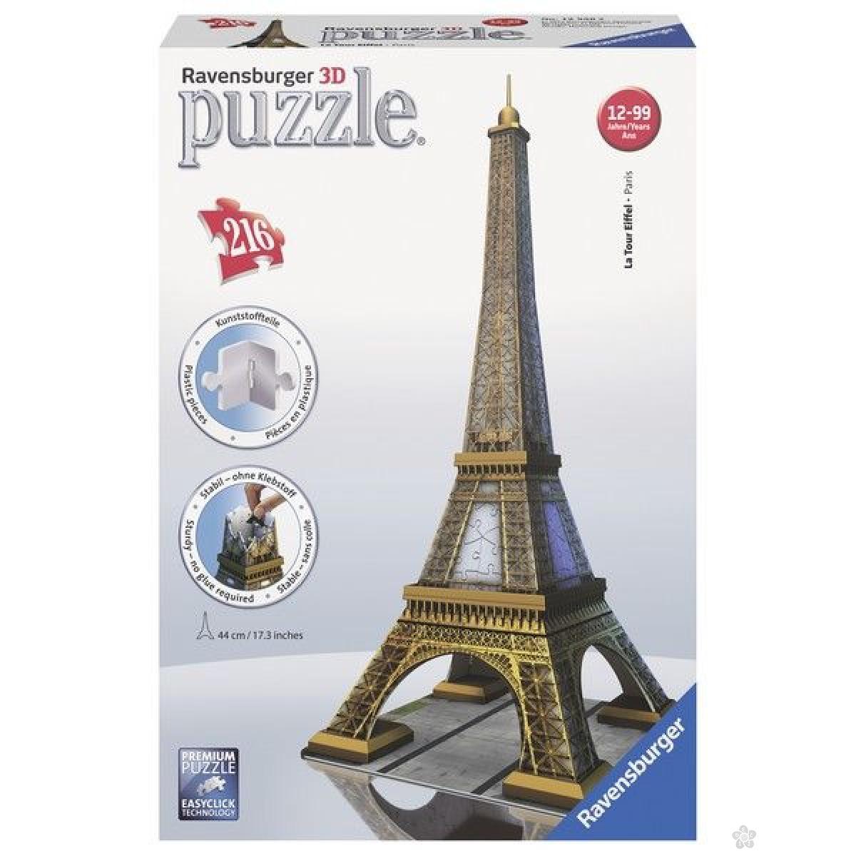 Ravensburger 3D puzzle (slagalice) - Ajfelova kula RA12556