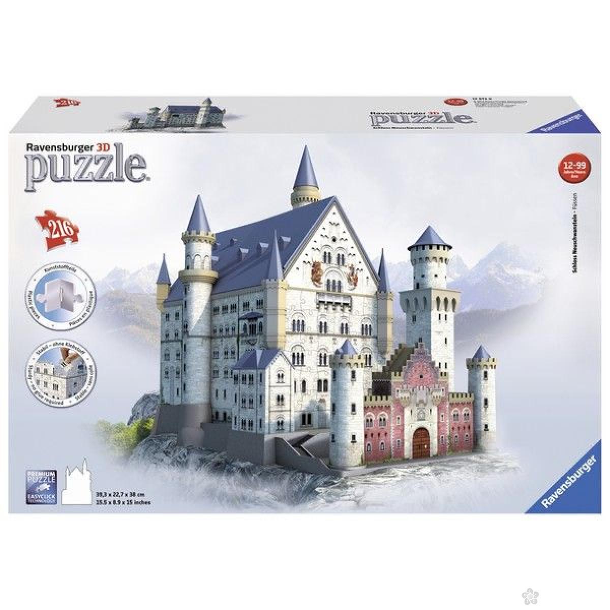 Ravensburger 3D puzzle (slagalice) - Zamak Nojsvanstajn  RA12573