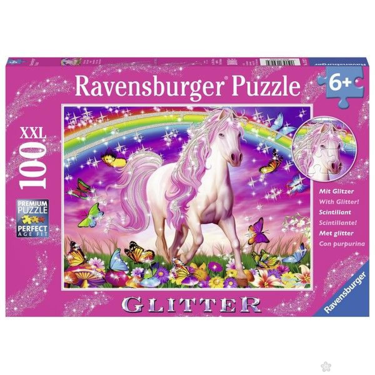 Ravensburger puzzle (slagalice) - Konj sa šljokicama RA13927