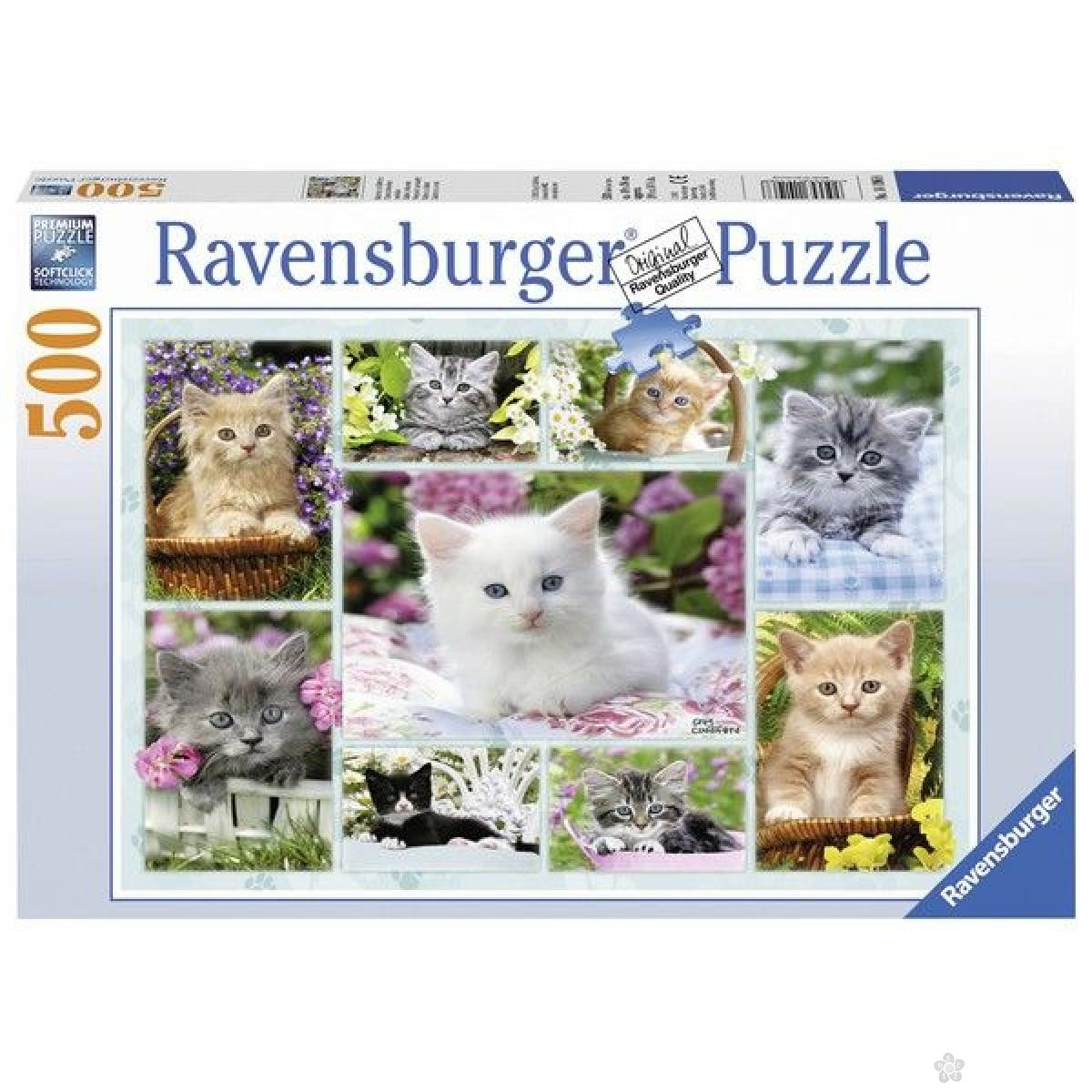Ravensburger puzzle (slagalice) - Mačići u korpi RA14196