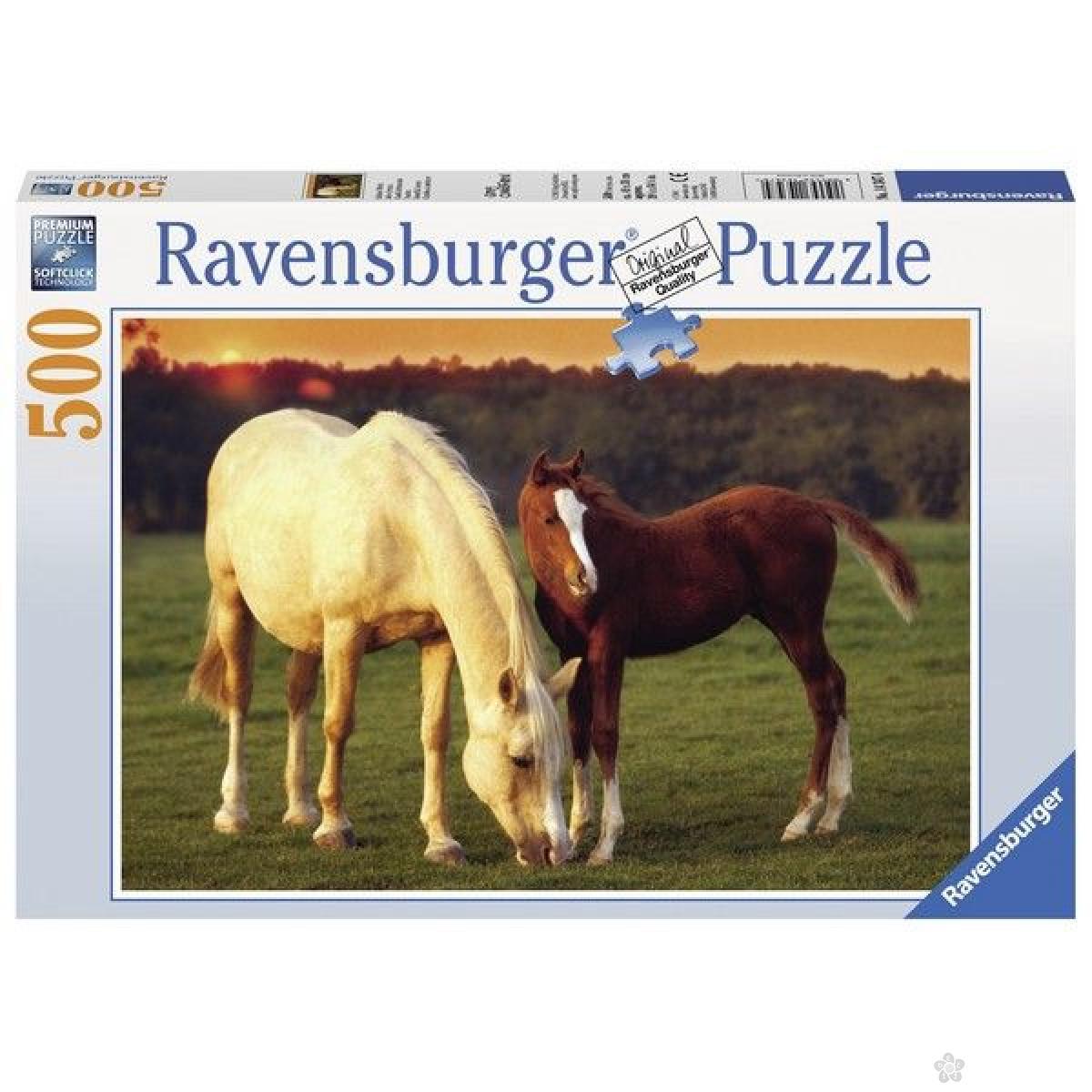 Ravensburger puzzle (slagalice) - Kobila i ždrebe RA14347