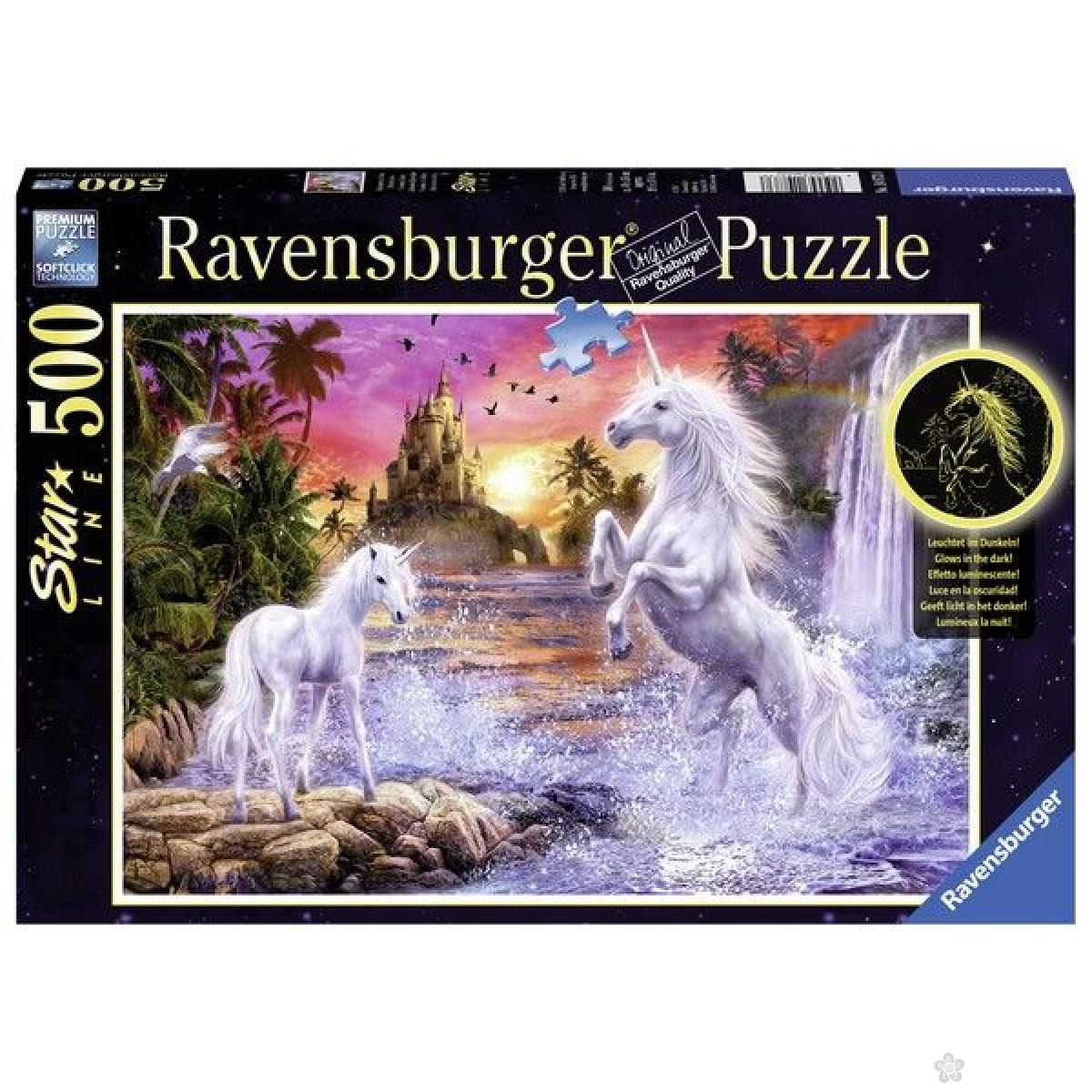 Ravensburger puzzle (slagalice) - Jednorog u reci RA14873