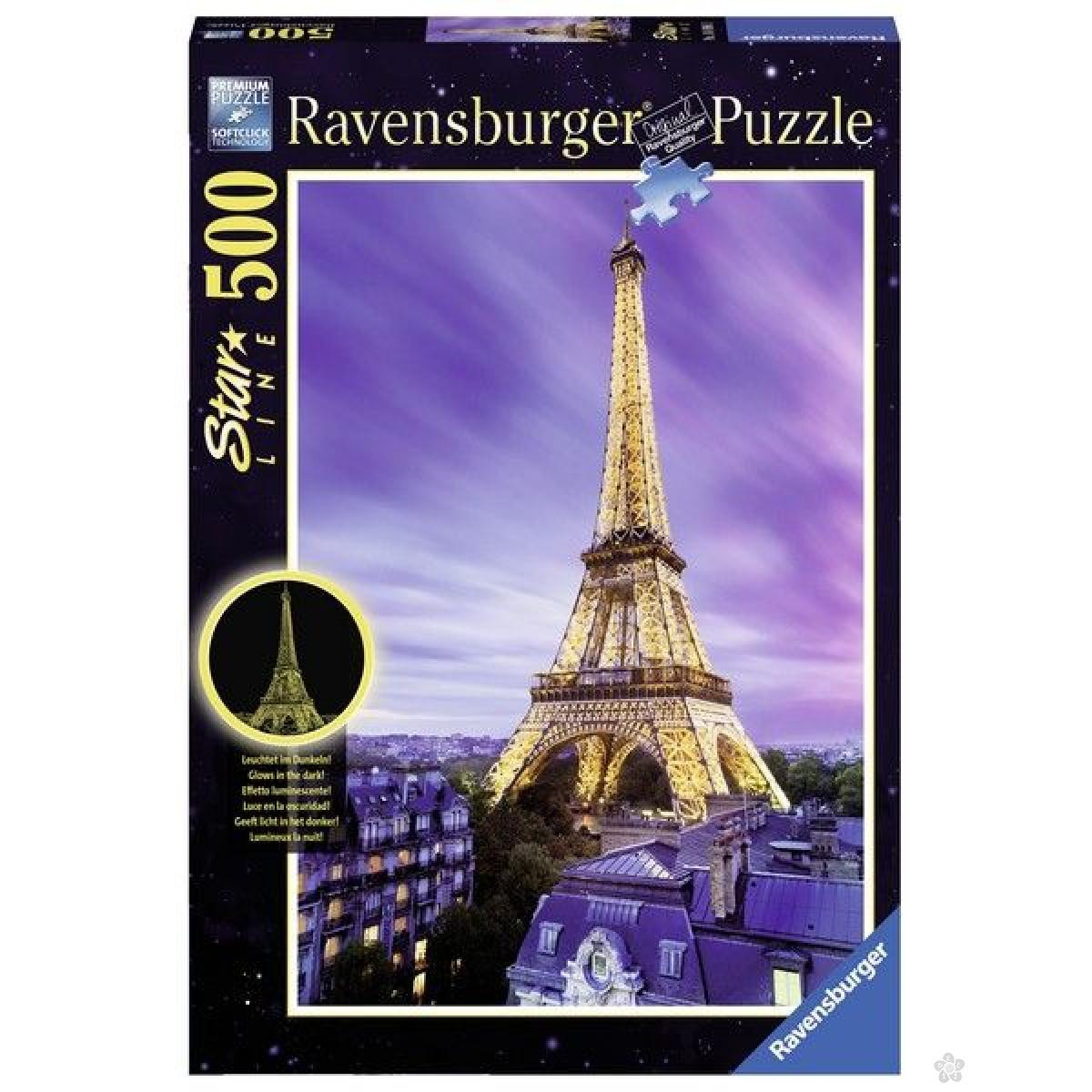 Ravensburger puzzle (slagalice) - Ajfelova kula noću RA14898