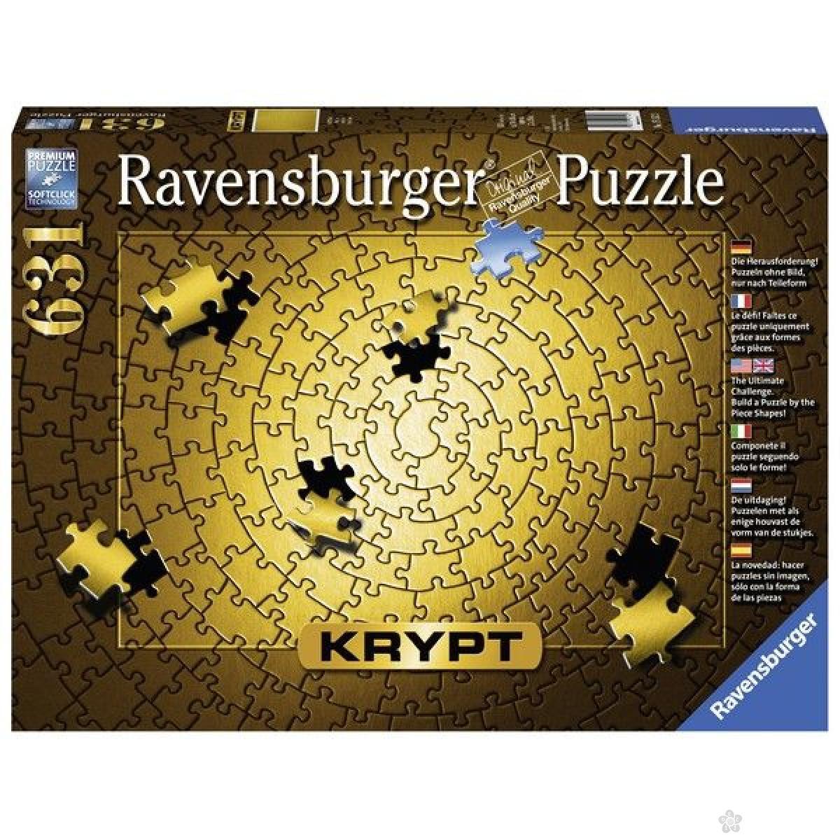 Ravensburger puzzle (slagalice) - KRYPT zlatni RA15152