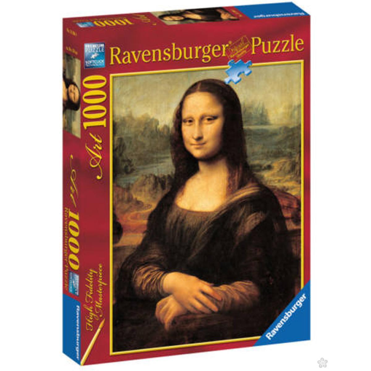 Ravensburger puzzle (slagalice) - Leonardo da Vinci: Mona Lisa RA15296