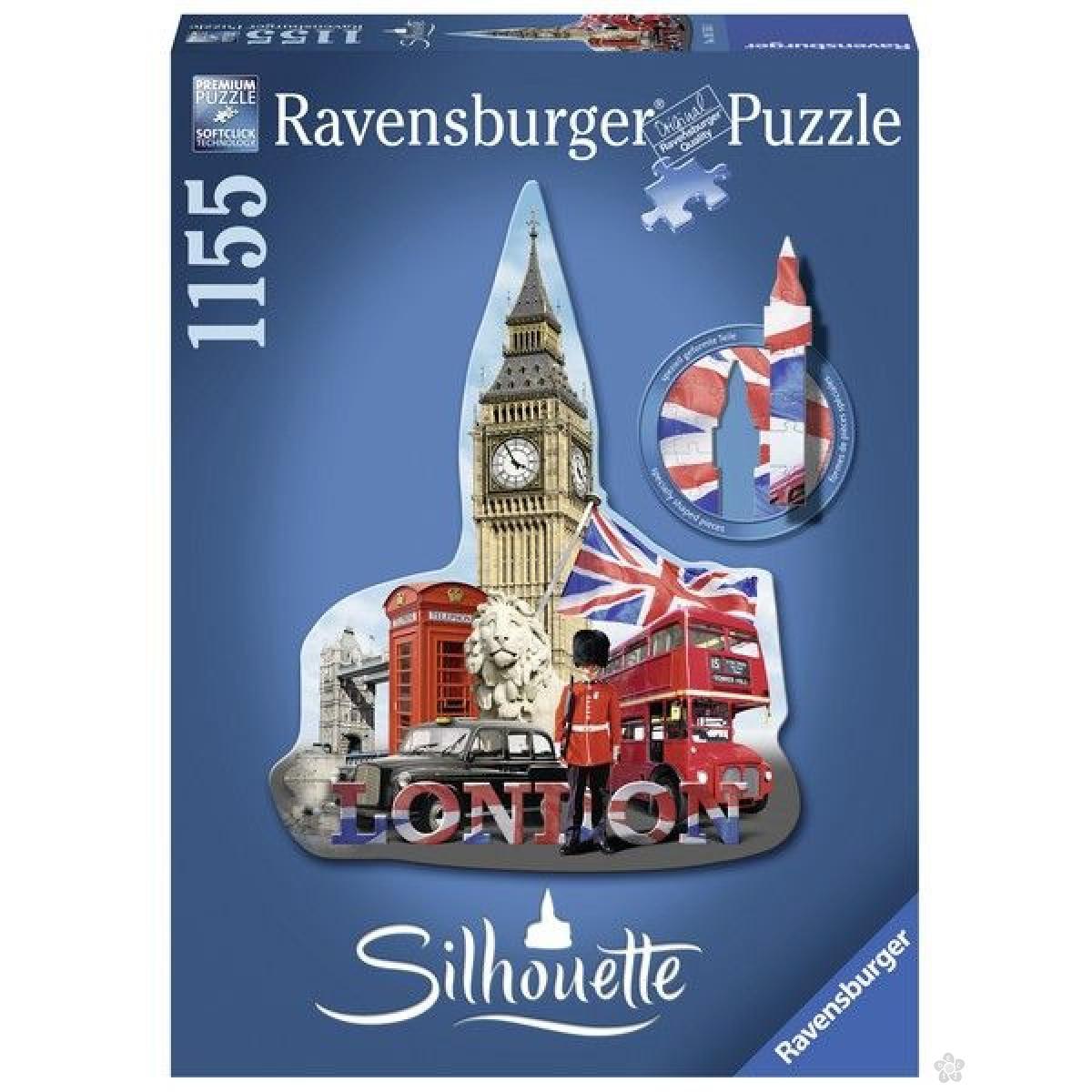Ravensburger puzzle (slagalice) - Big Ben silueta RA16155
