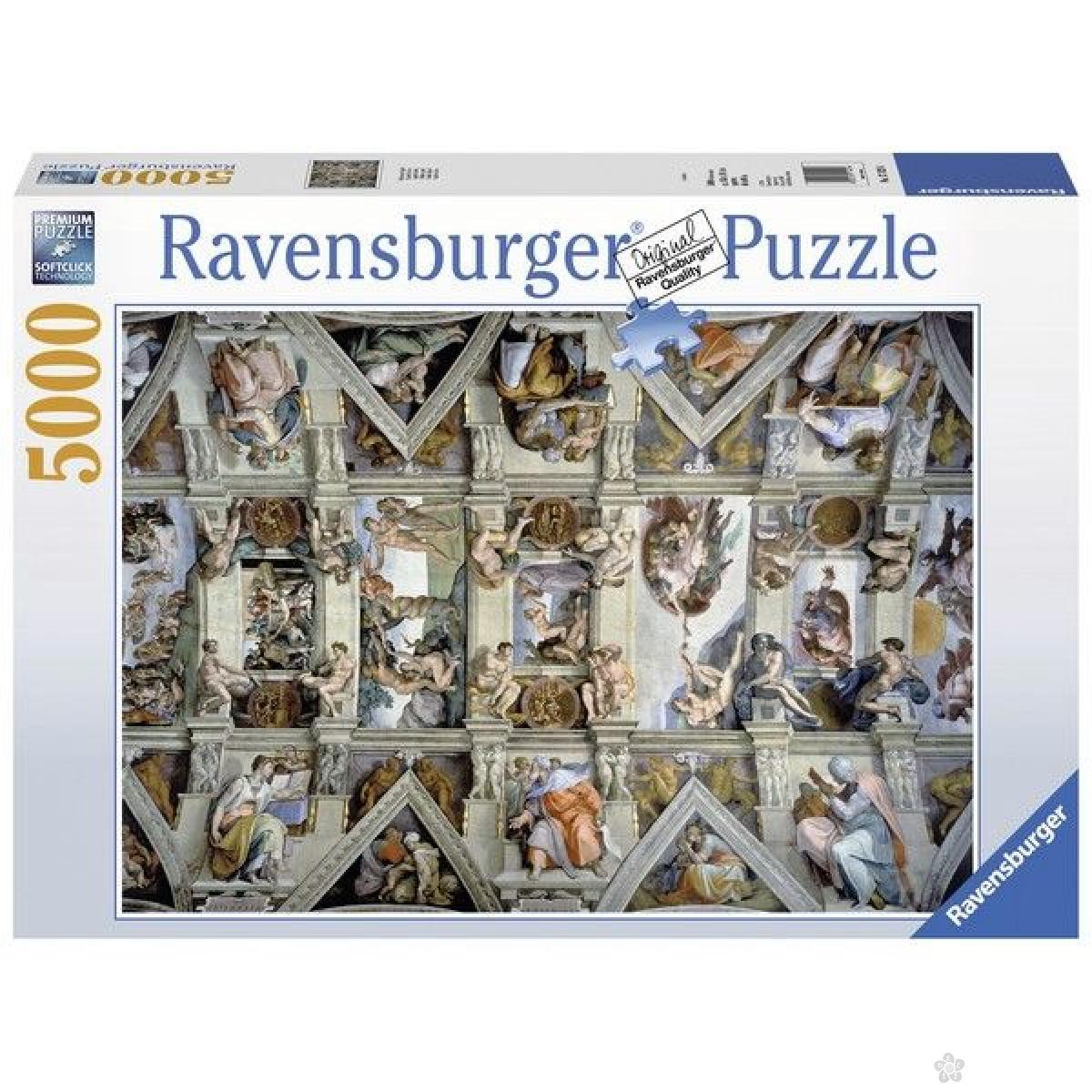 Ravensburger puzzle (slagalice) - Sikstinska kapela RA17429