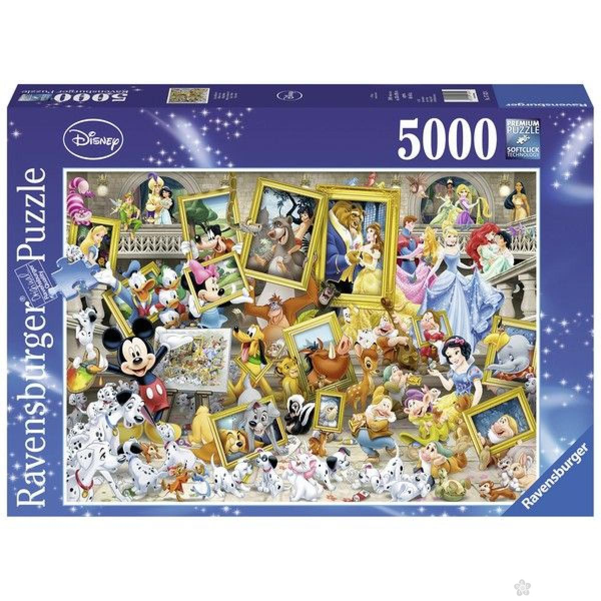 Ravensburger puzzle (slagalice) - Micky as painter RA17432