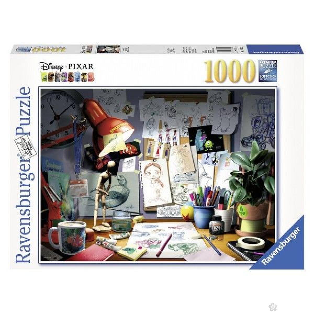 Ravensburger puzzle (slagalice) - Radni sto umetnika RA19432