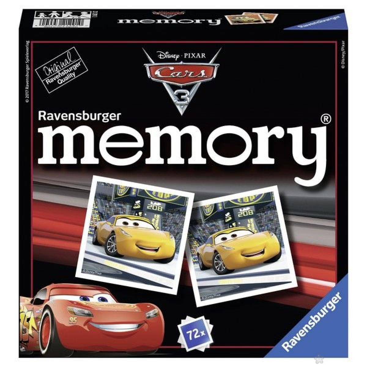 Ravensburger društvena igra - Cars memorija RA21291