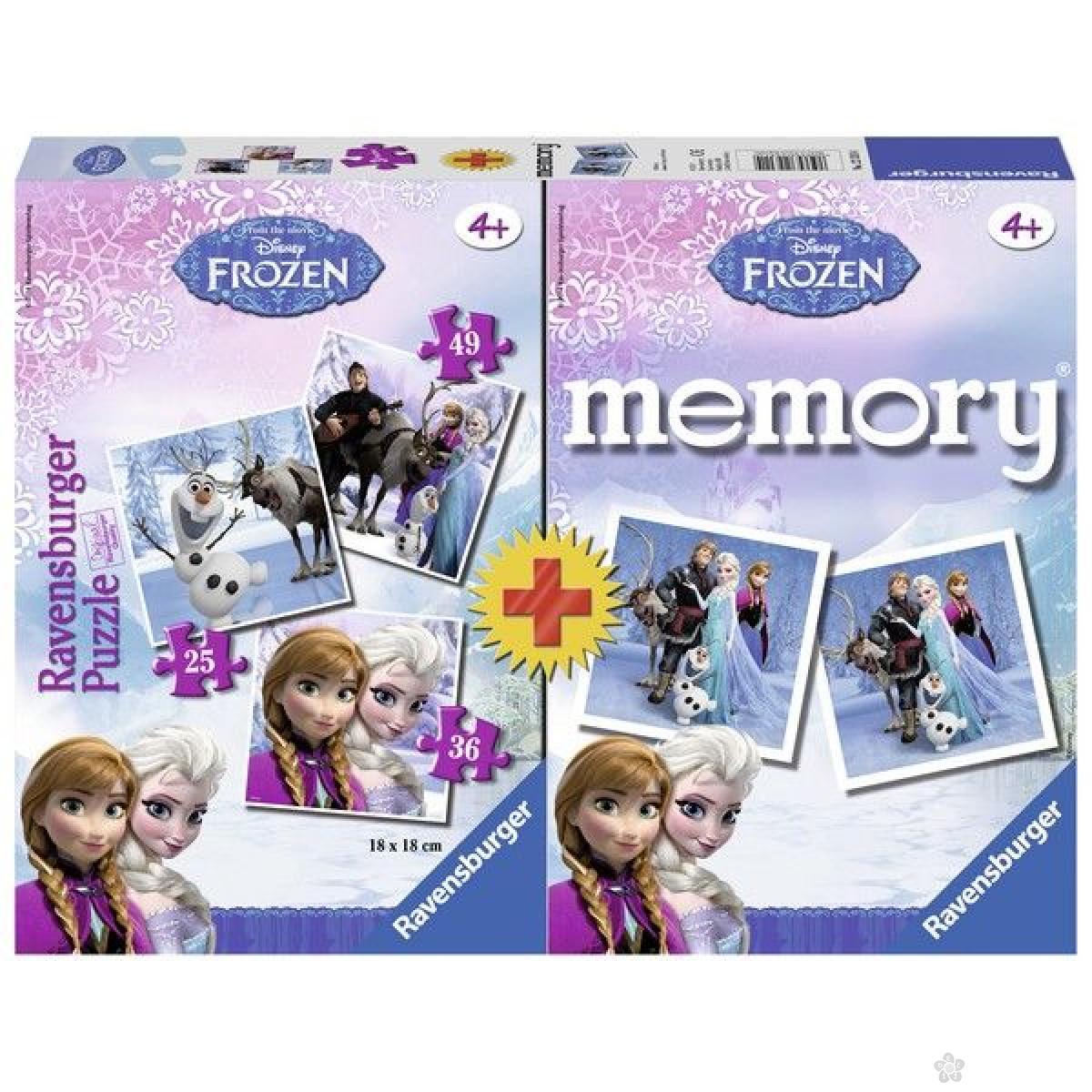 Ravensburger društvena igra -  Frozen puzle + memorija RA22311