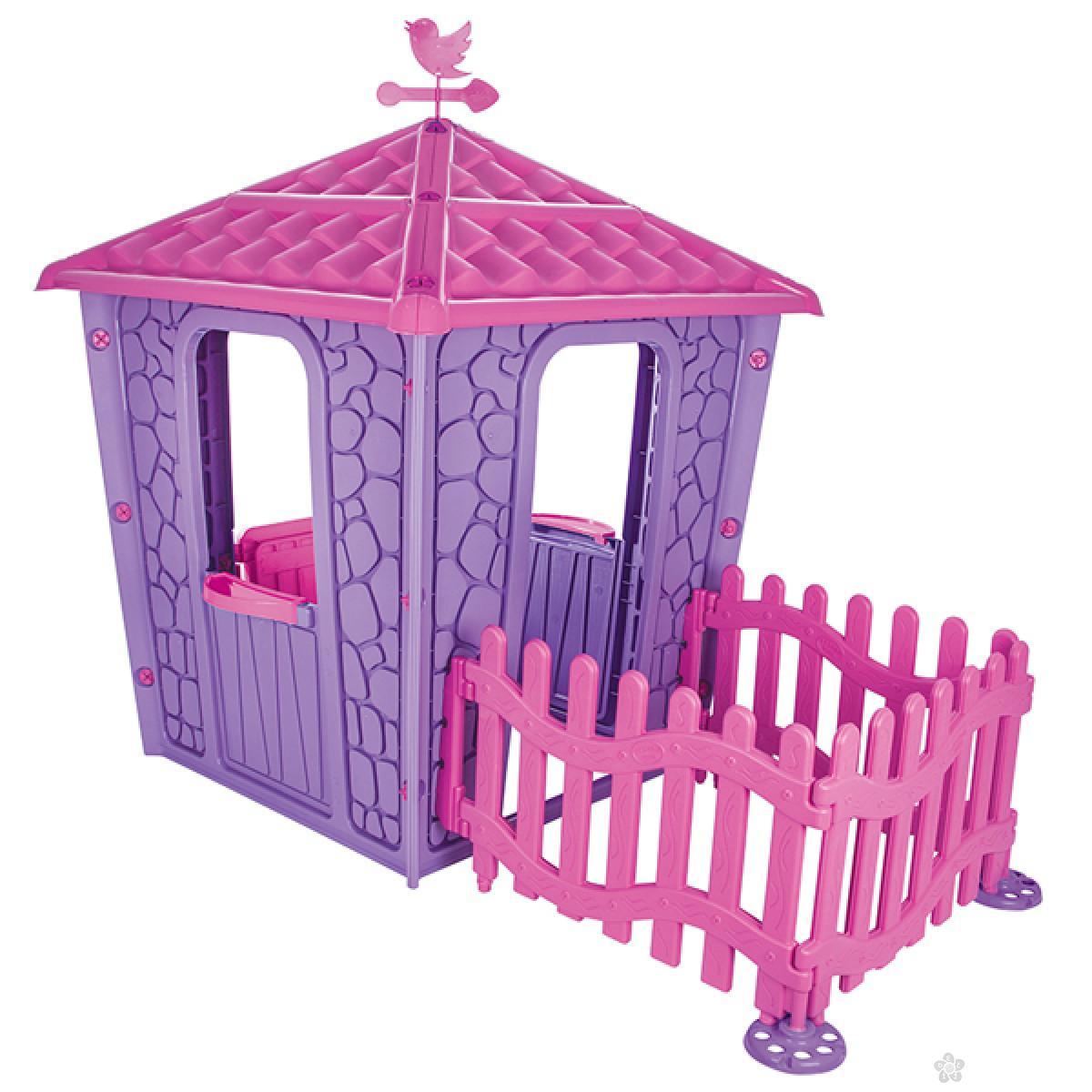 Kućica za decu Kamena kućica sa ogradom Pilsan T06443