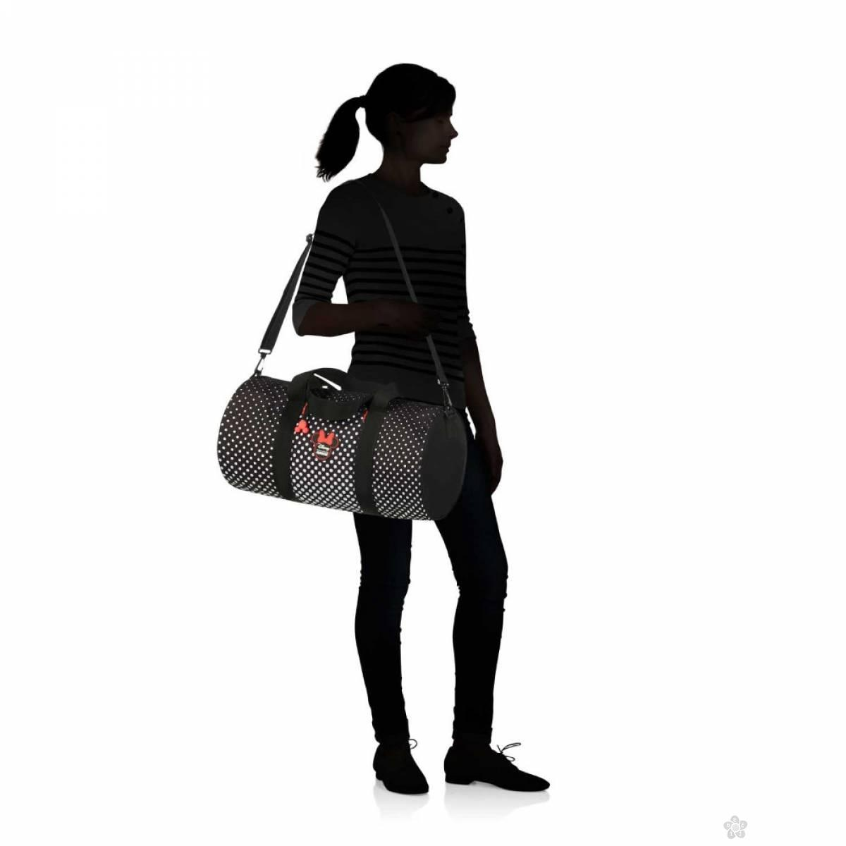 American Tourister torba na rame Minnie Polka dot