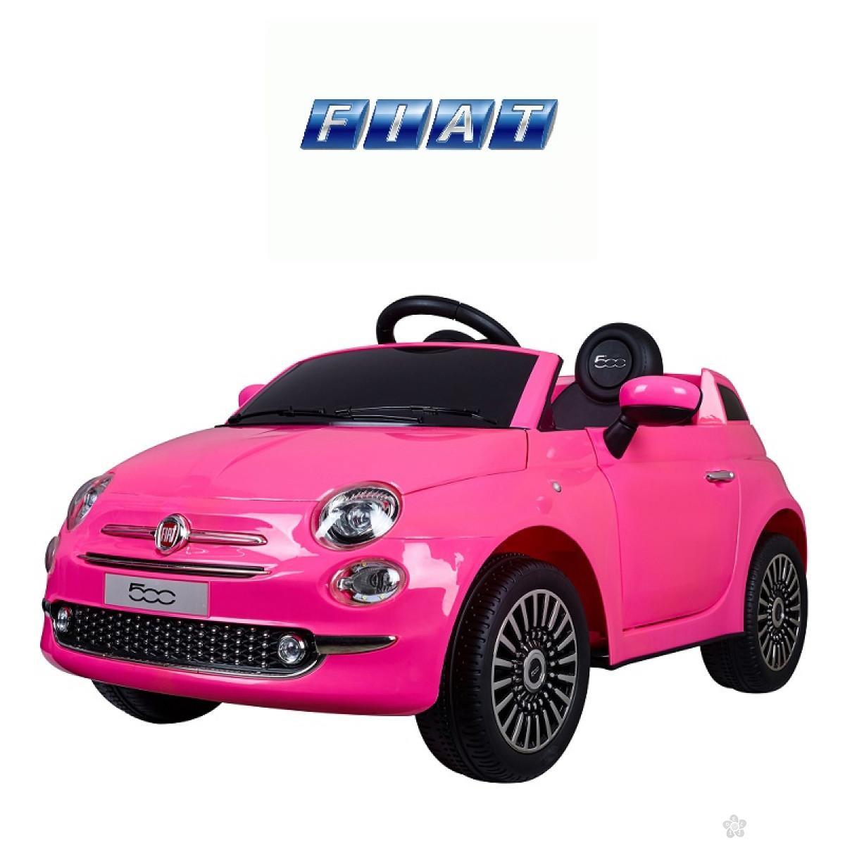 Auto na akumulator FIAT 500 ROZE