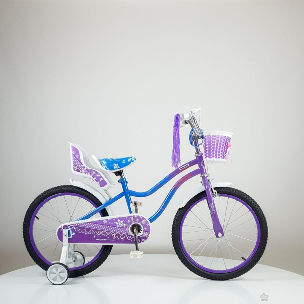 Dečji bicikl Snow Princess model 716-20 ljubičasti