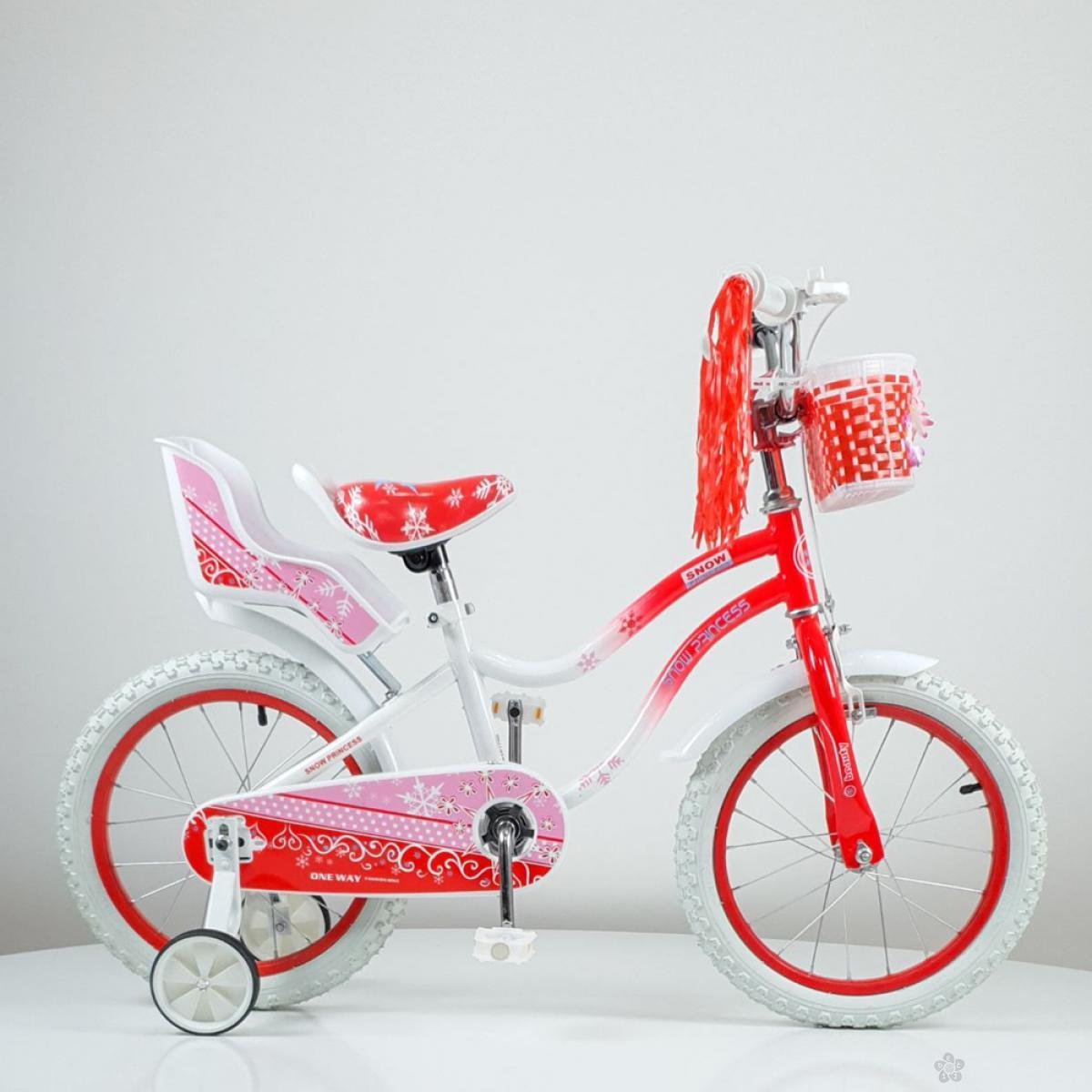 Dečiji bicikl Snow Princess model 716-16 crveni
