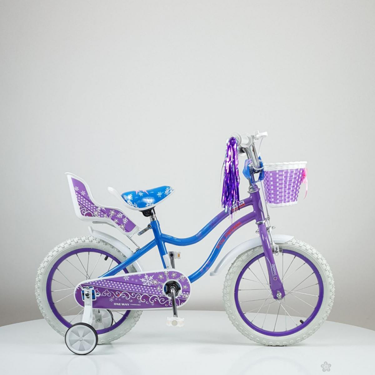 Dečiji bicikl Snow Princess model 716-16 ljubičasti