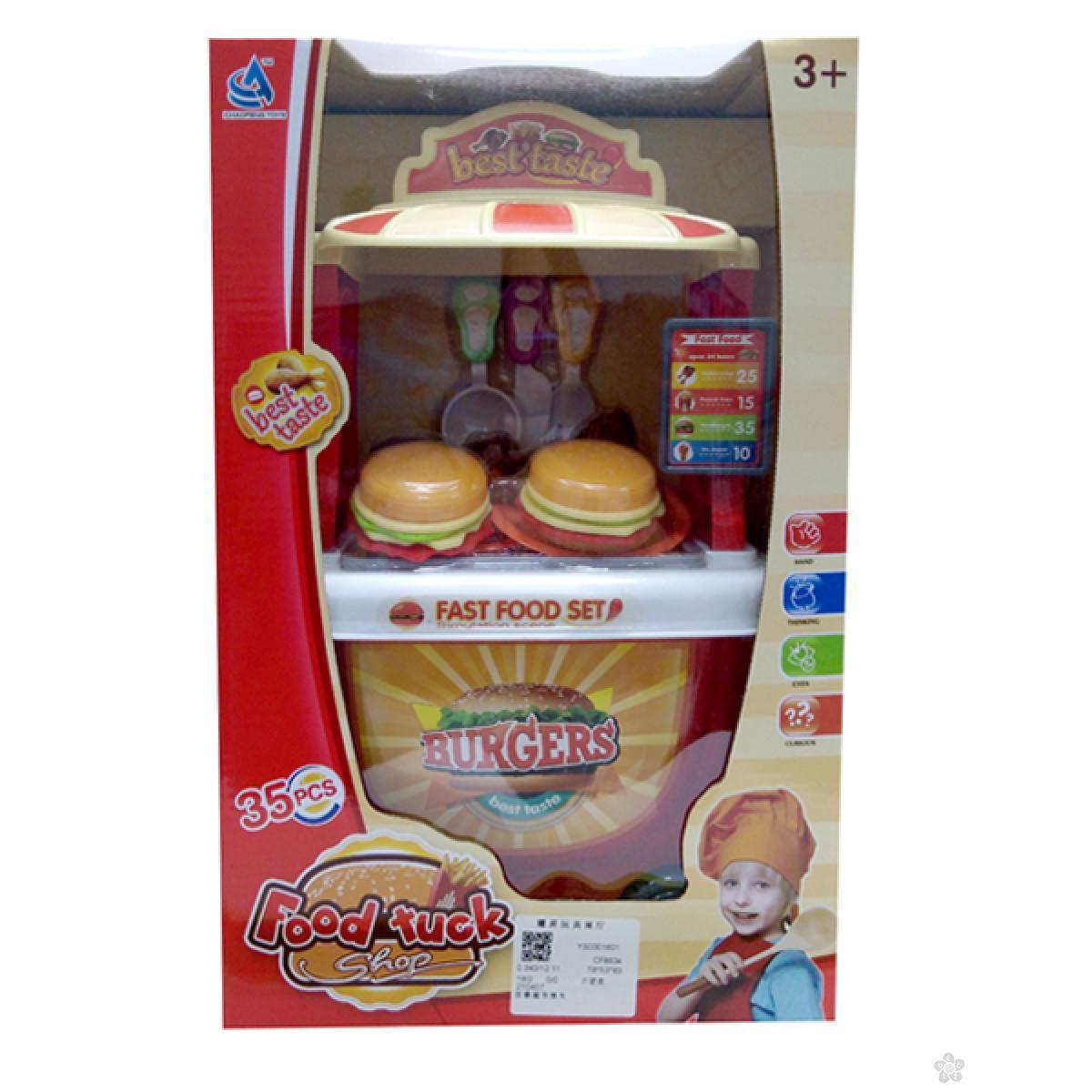 Burger set sa fast fudom 100114