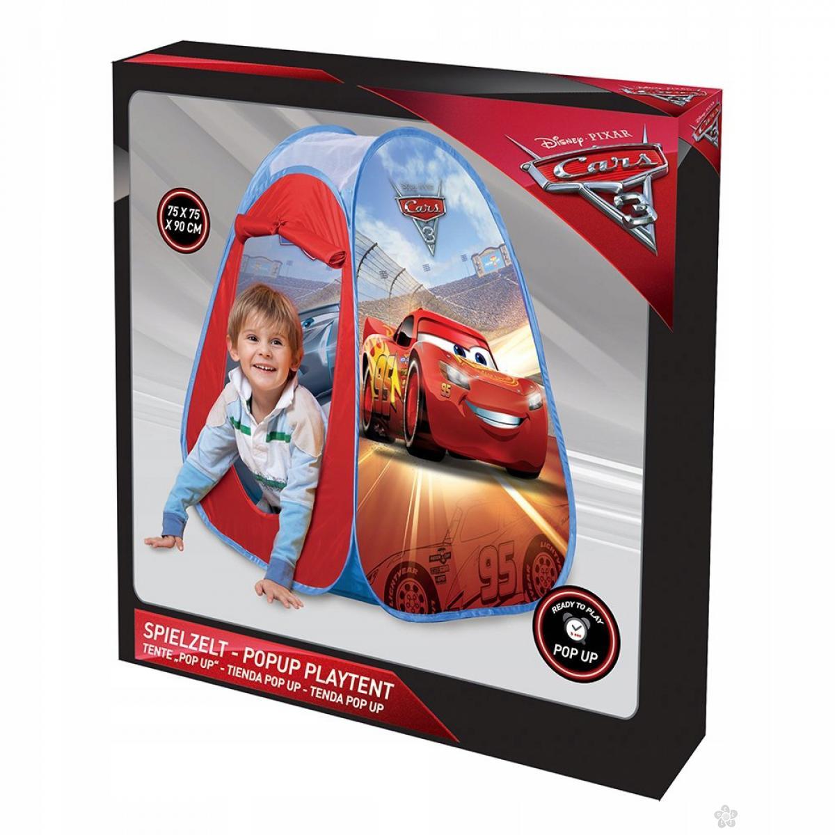 Šator Cars sa podlogom za igranje 43445