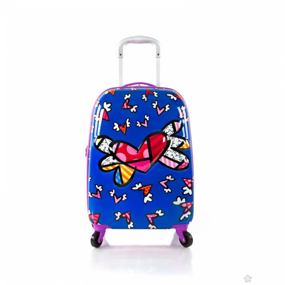Deciji kofer Flying Hearts (Purple Trim) 16152-6935-20