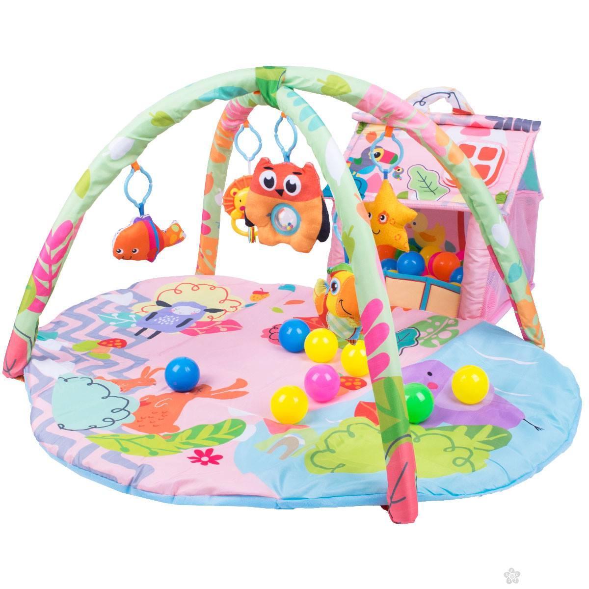 Jungle gimnastika sa kućicom i lopticama 013001