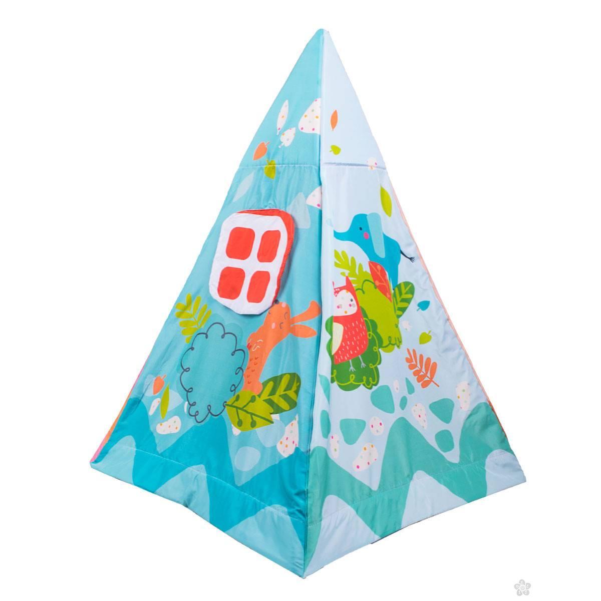 Jungle šator i podloga za igru 013006, plavi