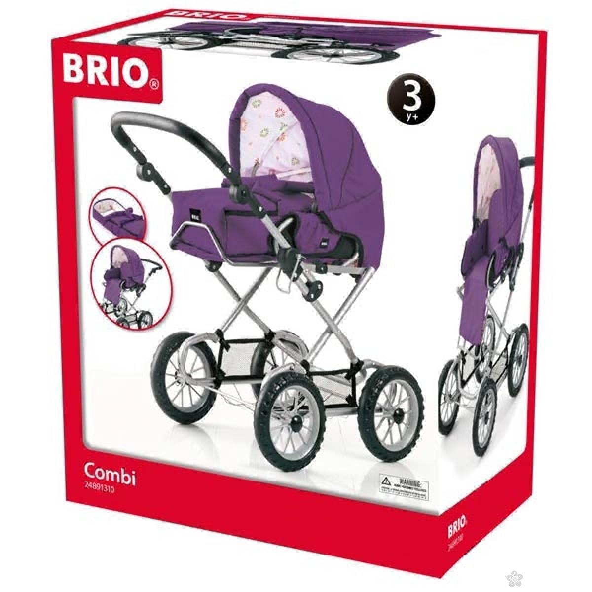 Kolica za lutke Brio - Combi- Ljubičasta BR24891310