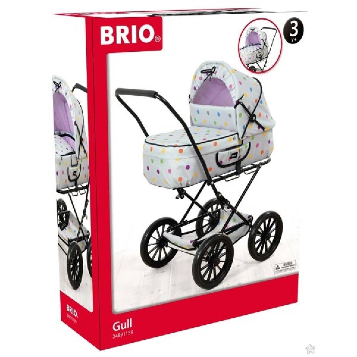 Kolica za lutke Brio - Gull- Siva BR24891159