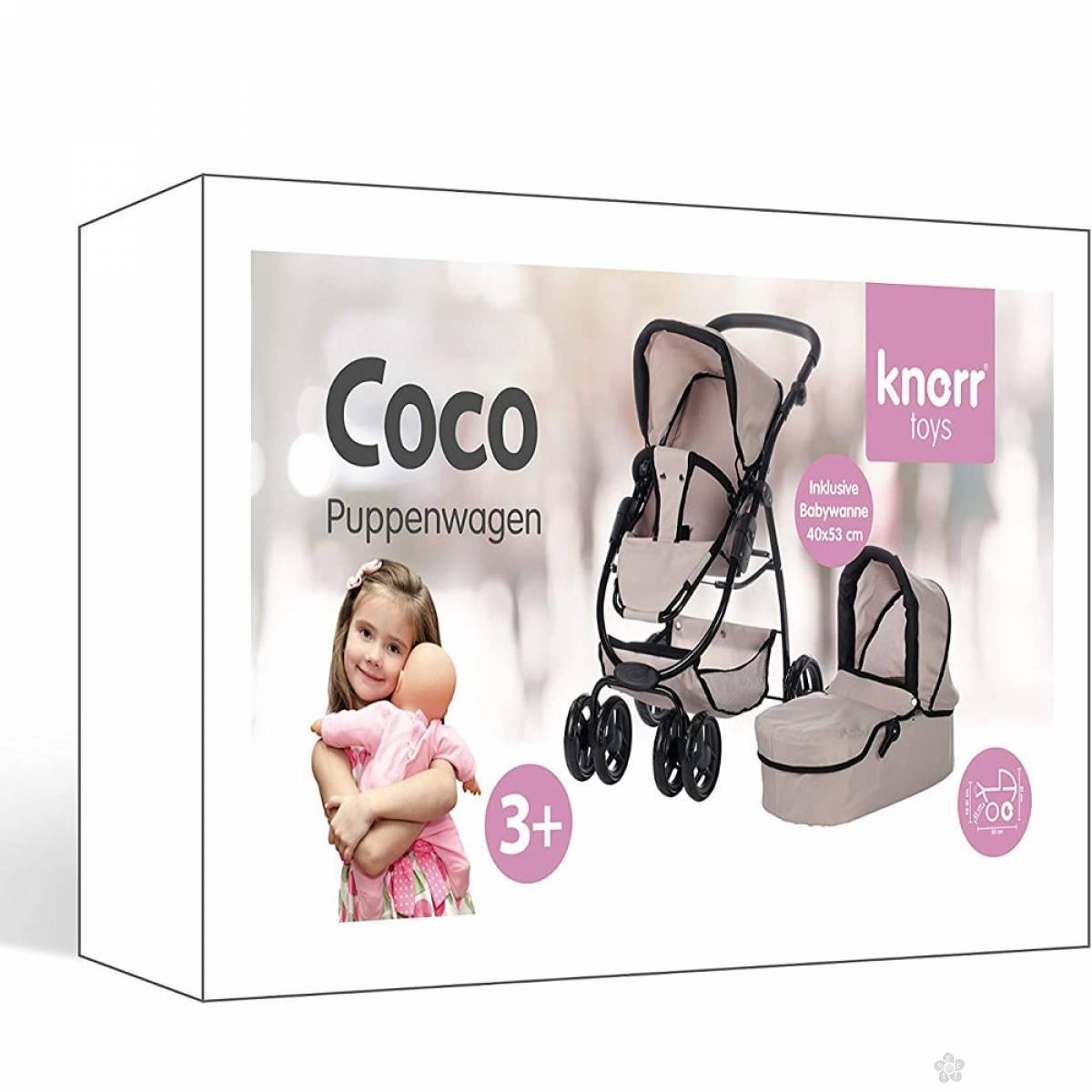 Kolica za Lutke Coco Bež 90724