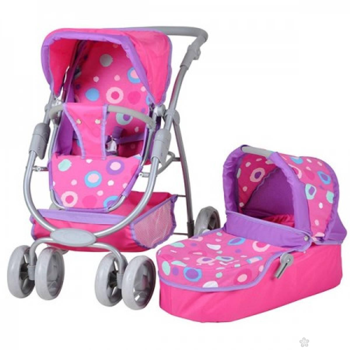 Kolica za lutke Knorr Toys Coco Pink splash 90715