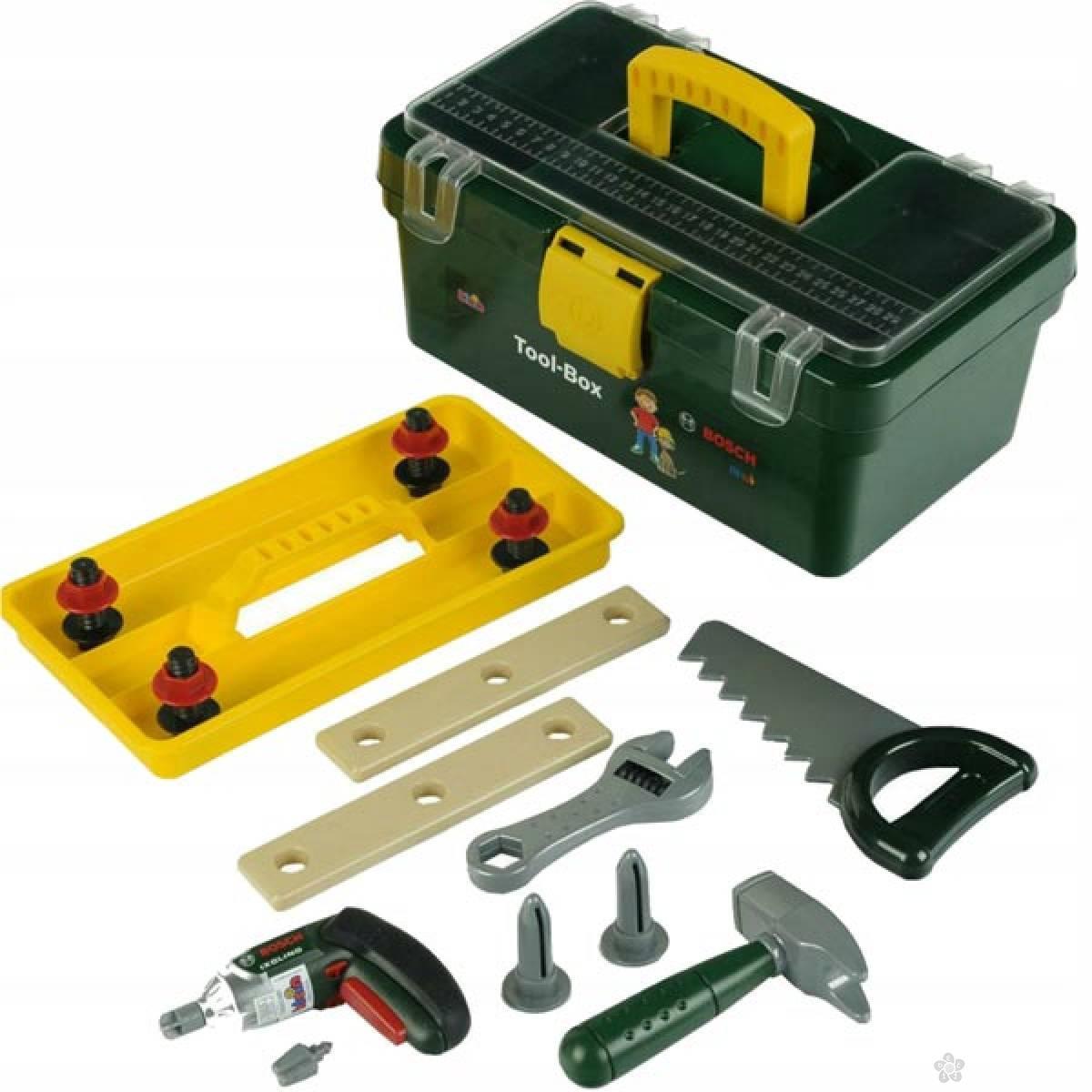 Kutija sa alatom + Ixolino bušilica Bosch Klein KL8305