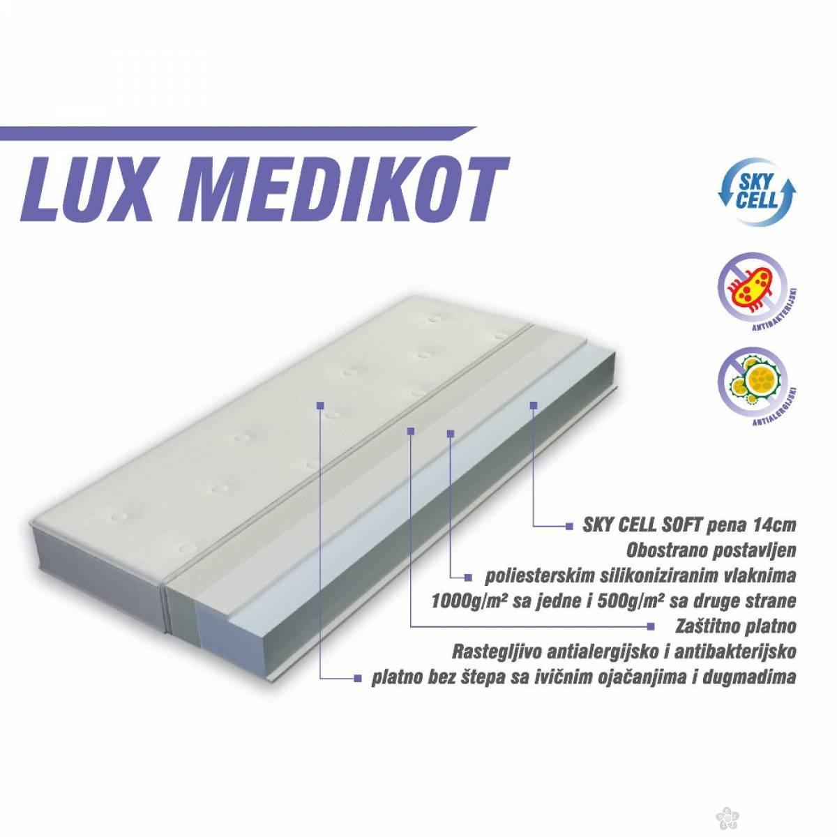 Dušek za krevetac - Lux Medicot 140 x 70