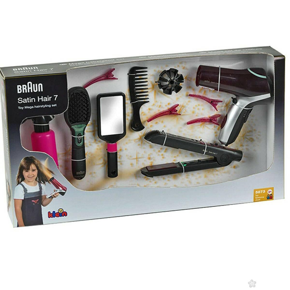 Mega set za kosu sa Braun Satin Hair 7 četkom Klein KL5873