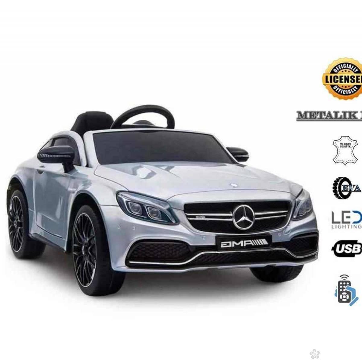 Dečiji Mercedes na akumulator model 246-1, metalik sivi