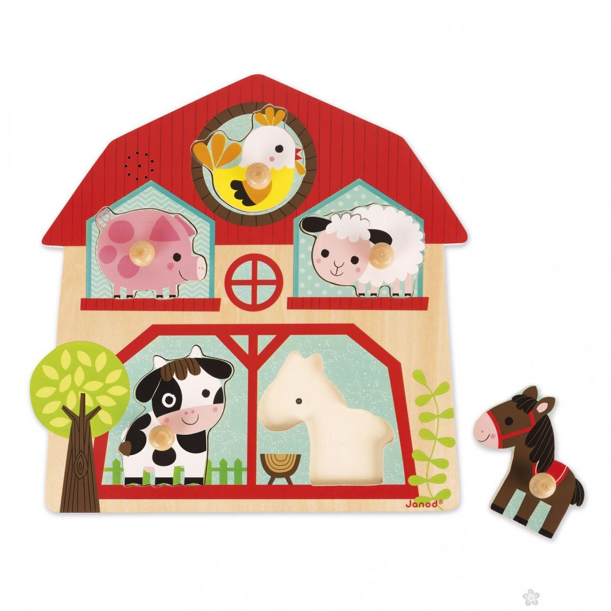 Muzičke Puzzle –Životinje sa farme J07079