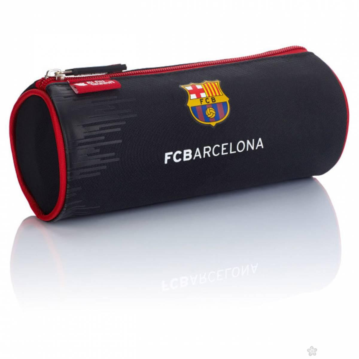 Okrugla pernica FC Barcelona 1 zip FC-243 Astra, crno crvena