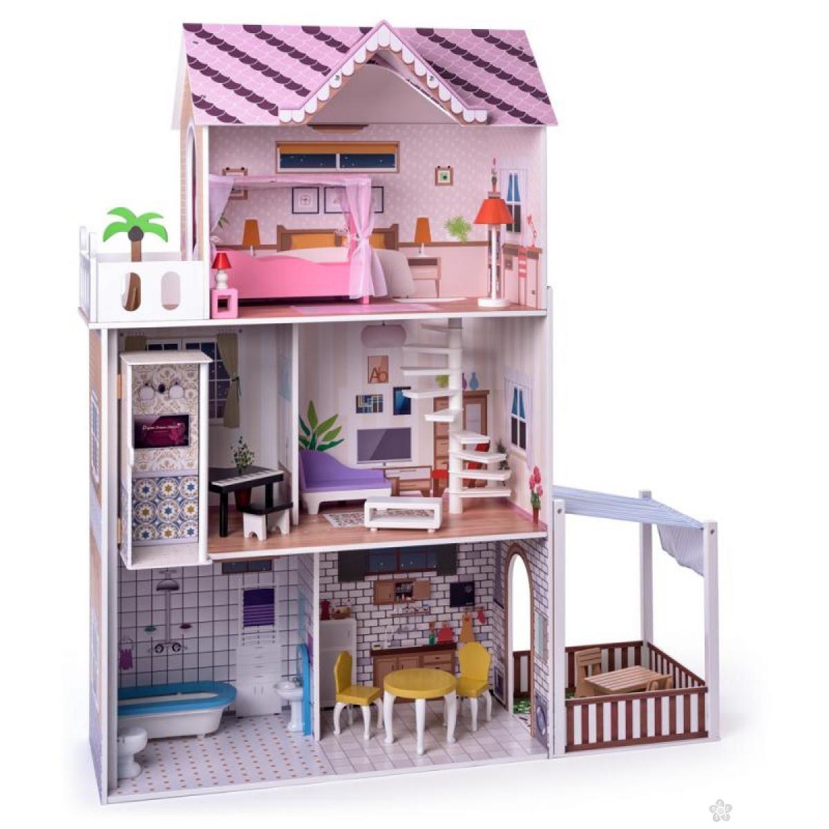 Pink kućica za barbike Malibu 91331