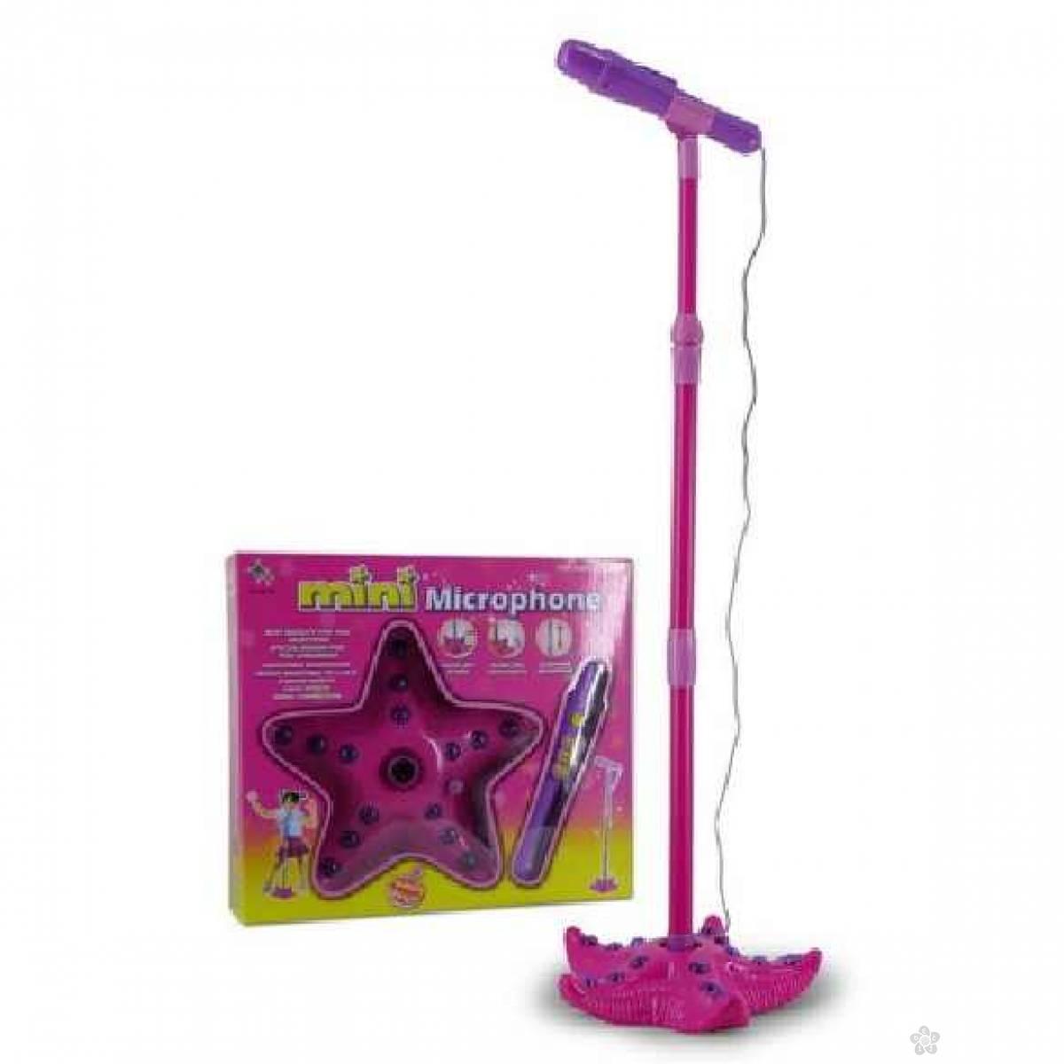 Pink mikrofon sa stalkom 870006