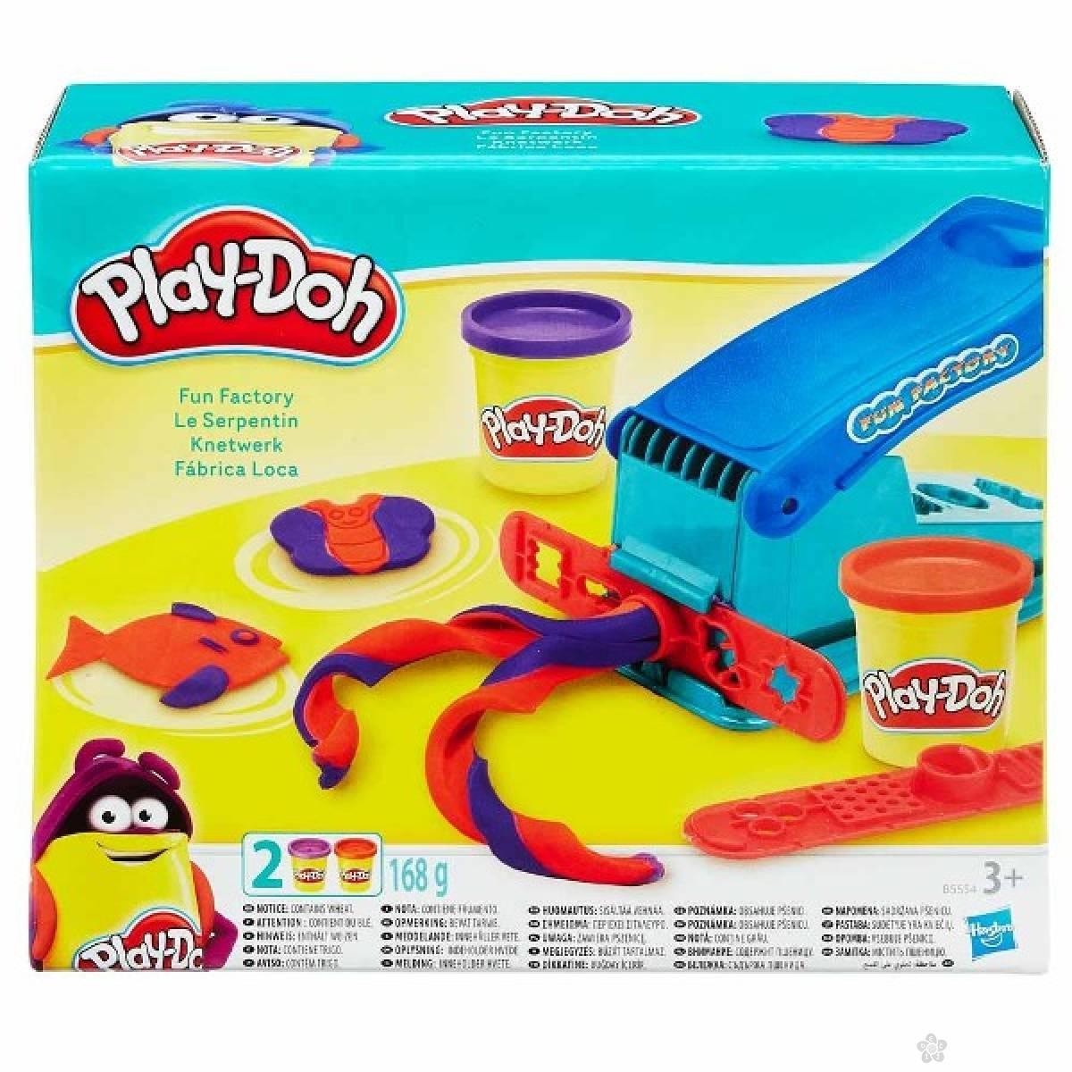Plastelin set Play Doh fabrika zabave B5554