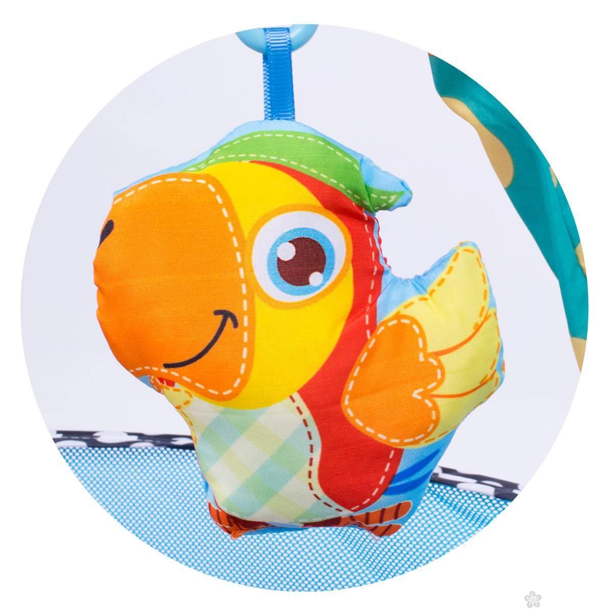Podloga kornjača sa gimnastikom i lopticama 013011