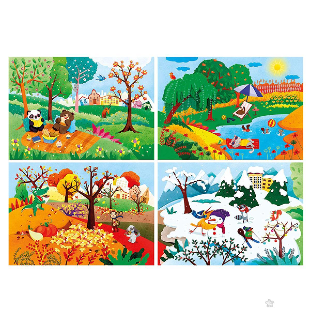 Puzzla 20+60+100+180 Four seasons CL21408