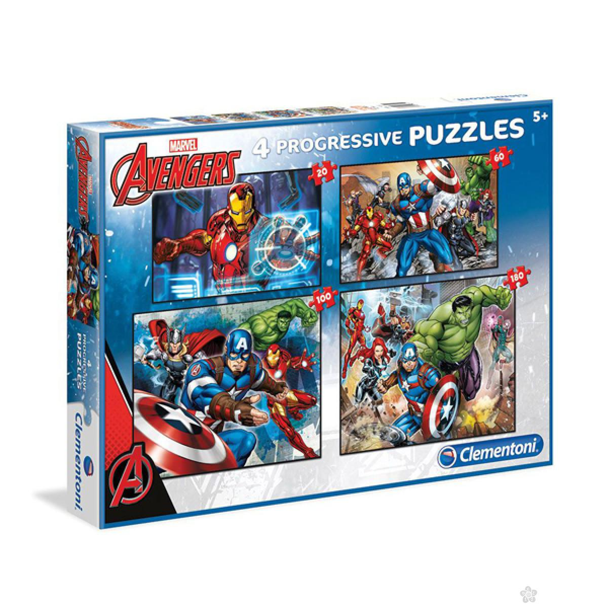 Puzzle Avengers 4 U 1 - 20/60/100/180 CL07722