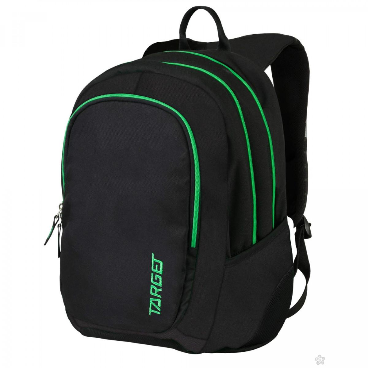 Ranac 3 zipa Black Apple Green  Target 26192