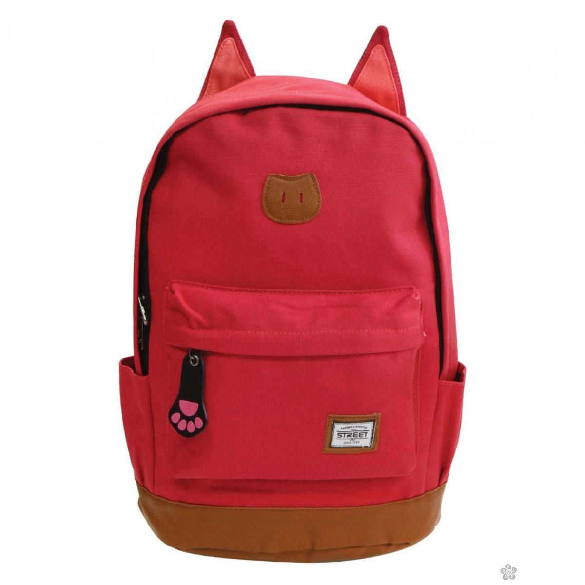 Ranac za školu Street Cat Red 53368